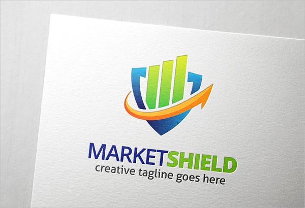 Market Shield Logo Template