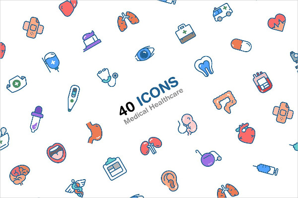 Medical Healthcare 40 Icons