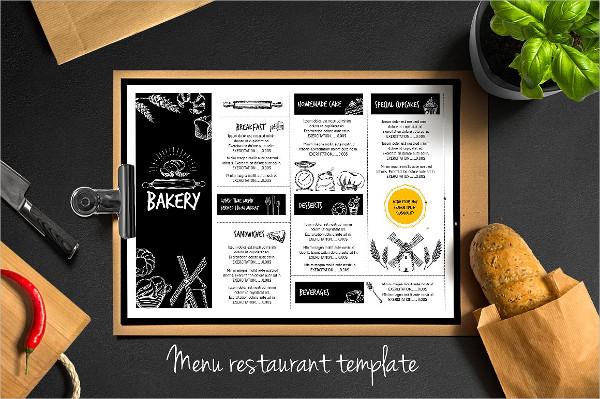 Editable Bakery Menu Flyer Template