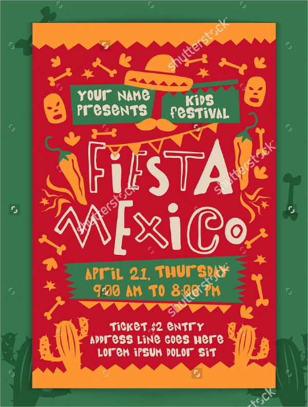 Mexico Kids Festival Flyer