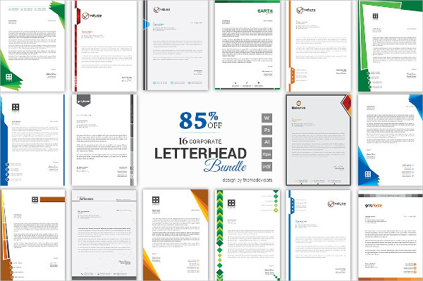 Minimal & Clean Letterhead Template Bundle