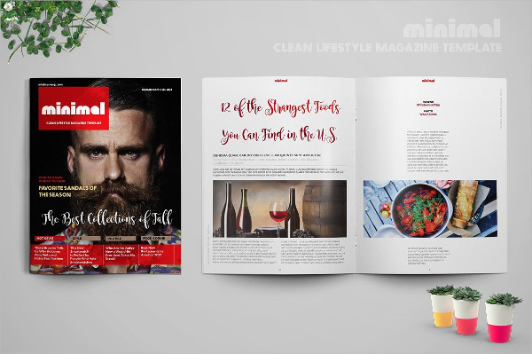 Minimal Clean Life & Style Magazine Template