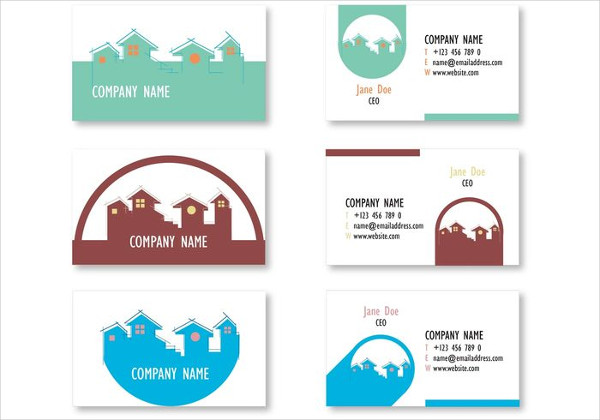 Minimalistic Real Estate Business Cards Free