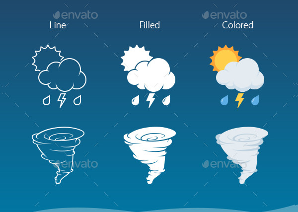 Minimalistic Weather Icon Pack