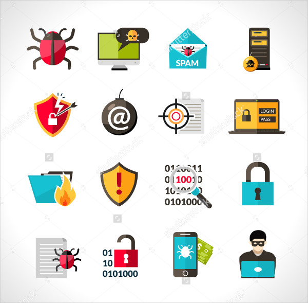 Hacking Protection Security Icon Pack