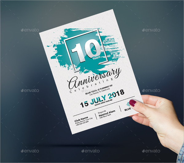 Modern Anniversary Invitation Template
