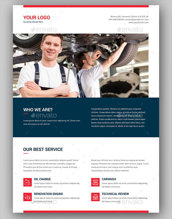 Modern Auto Repair Center Flyer Template