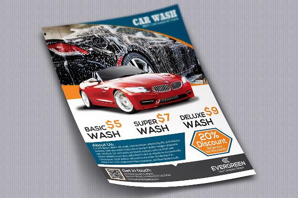 Modern Car Wash Flyer