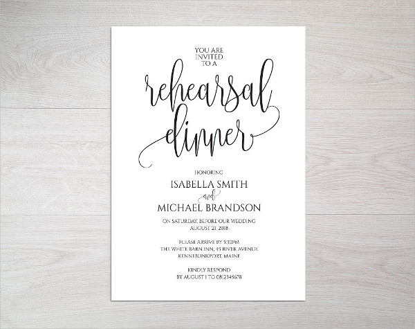 Modern Dinner Invitation Template