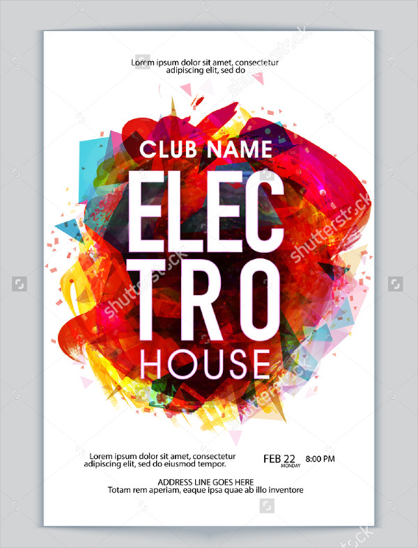 Modern Electro House Flyer Template