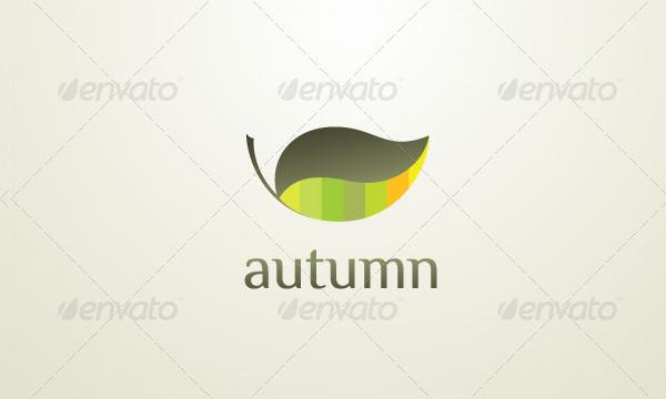 Autumn Leaf Nature Logo Template