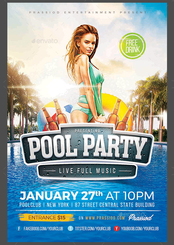 Latest Pool Party Flyer Templates