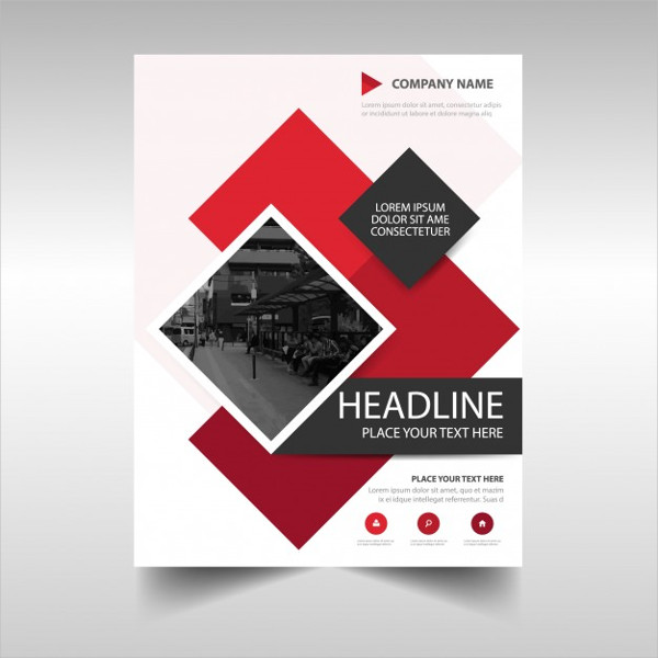 Modern Red Commercial Annual Report Template Free
