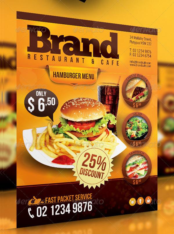 Modern Restaurant Menu Flyer Template