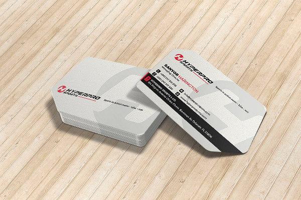 Modern Sports Die Cut Business Cards Design