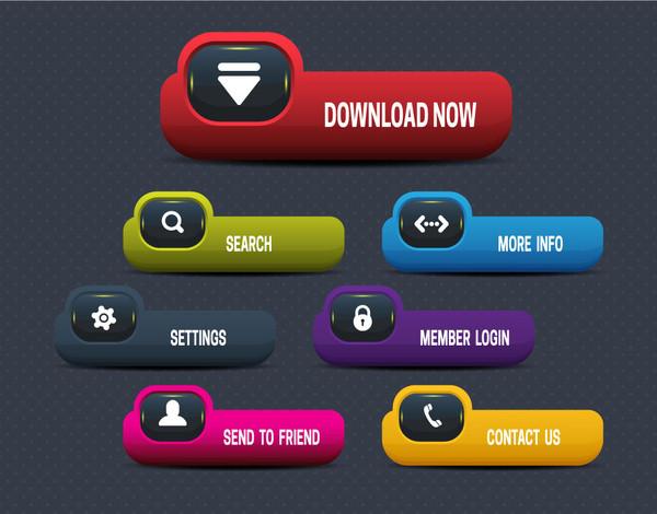 Modern Website Buttons Free