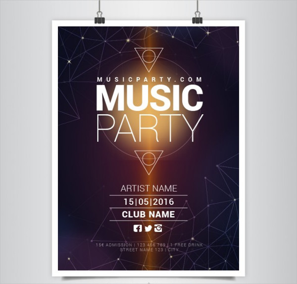 Party Poster Template Free Download