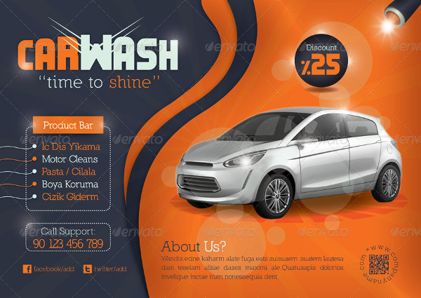 Printable Car Wash Flyer Template