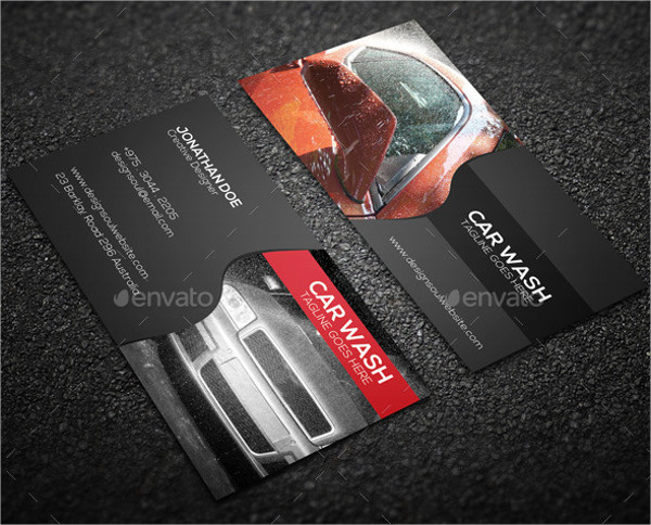 Corporate Car Cleaning Business Card Template