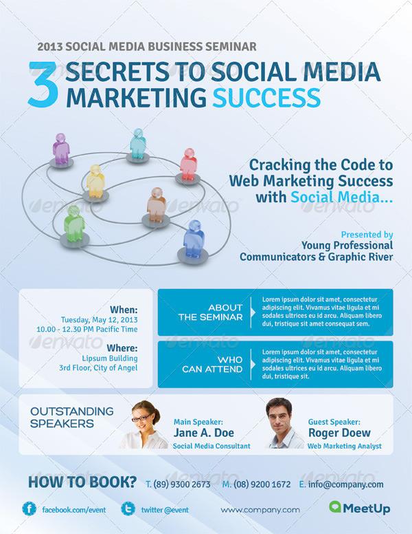 Business Event Marketing Flyer