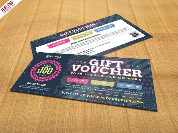 Free Multipurpose Gift Voucher PSD Template