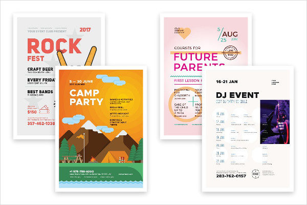 Multipurpose Party PostersBundle & Freebie