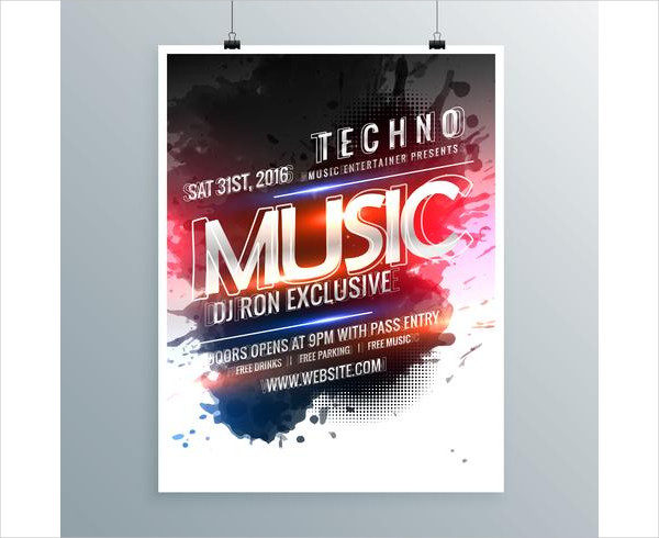 Music Party Promotional Poster Template Free Download