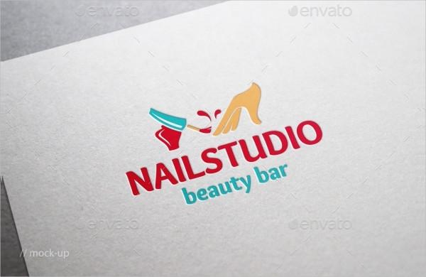 Minimal Nail Salon Logo Template