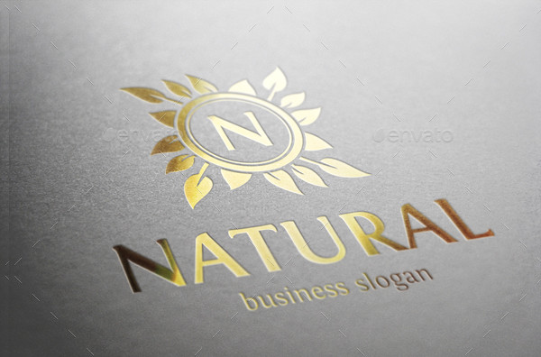 Natural Beauty Logo Template
