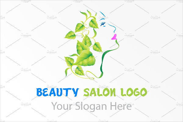 Stylish Natural Beauty Salon Logo Template