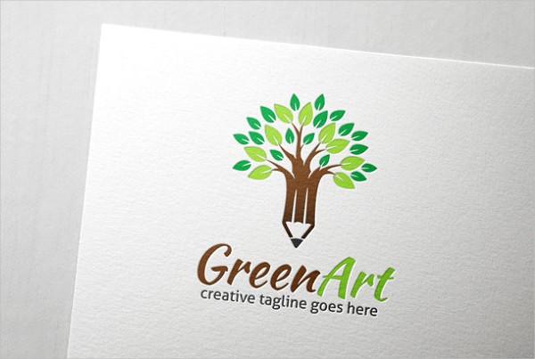 Natural Green Art Logo Template