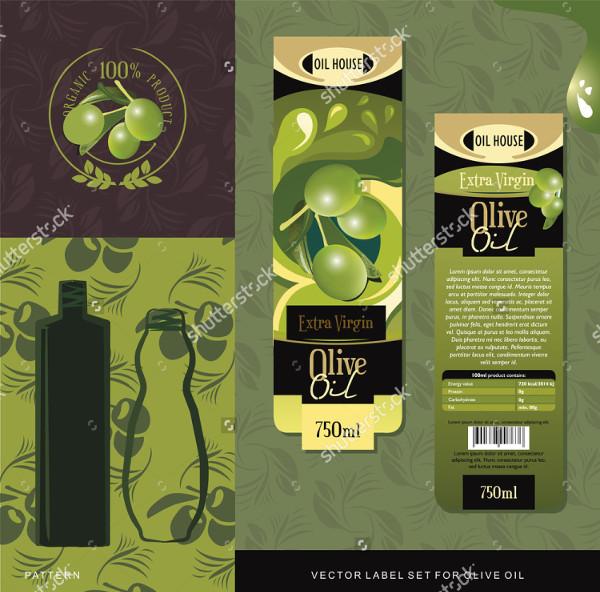 Natural Olive Oil Labels Set