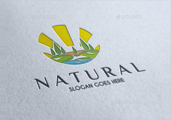 Natural Tourism Logo Template