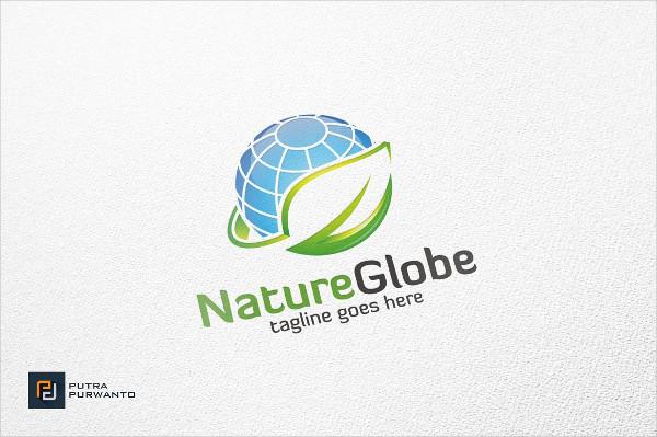 Nature Globe Logo Template