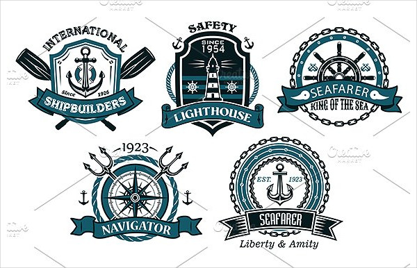 Nautical Badges & Emblems Set