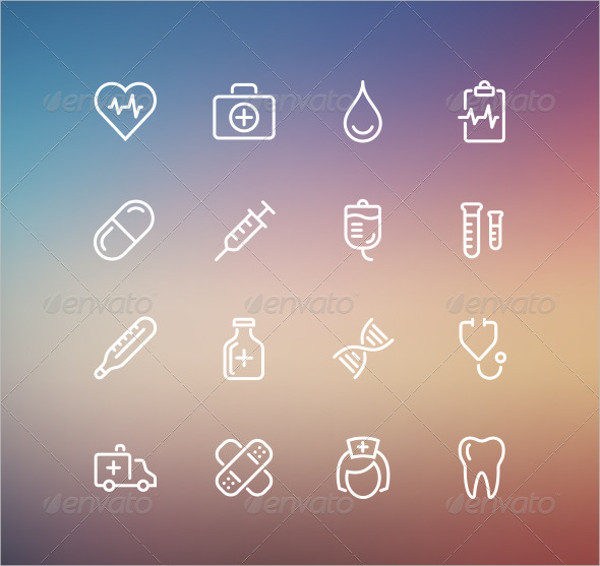 Medical Outline Style Icons