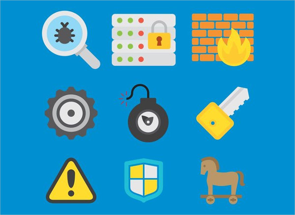 Computer Security Vector Icons Free