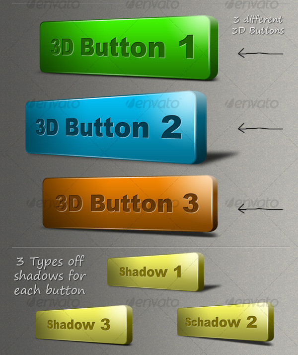 New 3D Button Collection