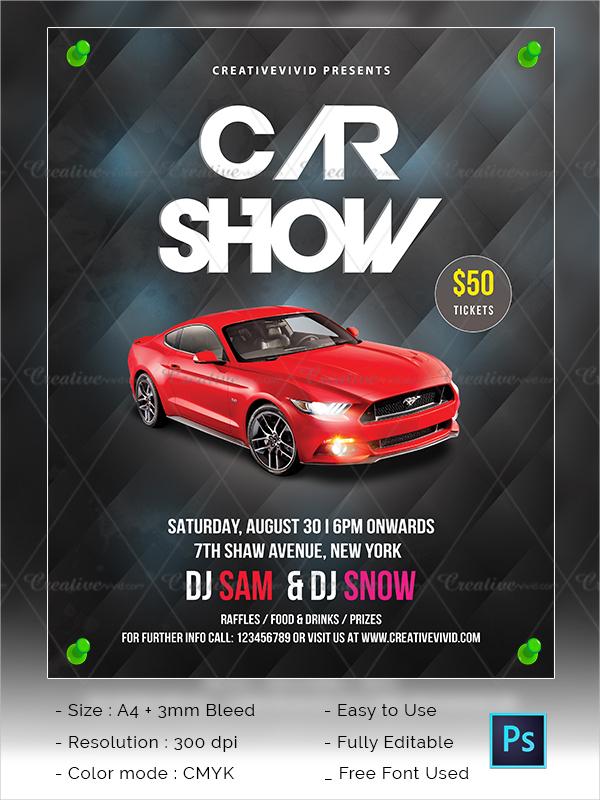 25  car show flyer templates