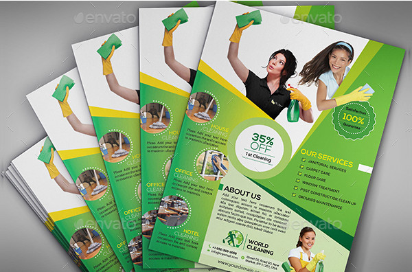New Cleaning Services Flyer Templates Bundle