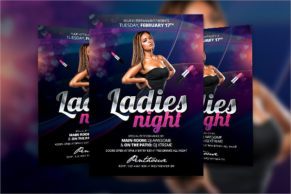 Glamorous Ladies Party Flyer Template