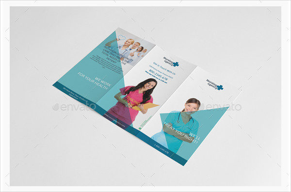 Nursing Agency Trifold Brochure Template