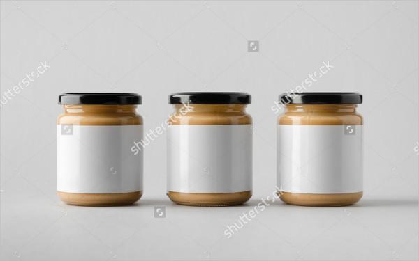 Almond Nut Butter Jar Mockup