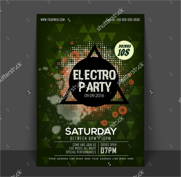 Weekend Electro Party Flyer Template