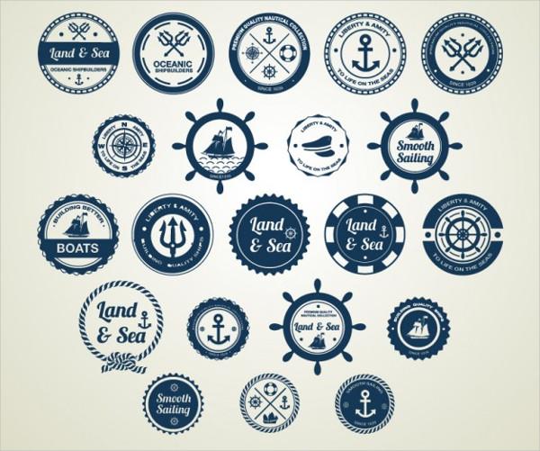 Ocean & Sea Nautical Badges Free