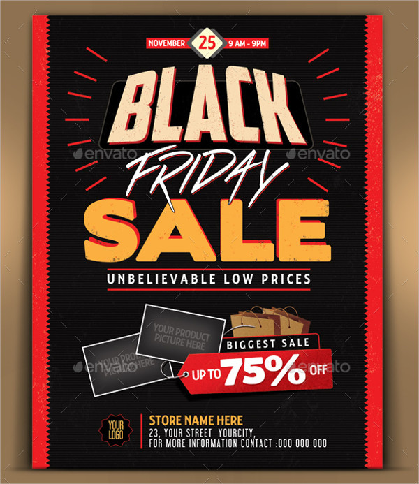 Black Friday Sales Store Flyer Template