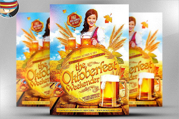 October Fest Weekender Party Flyer Template