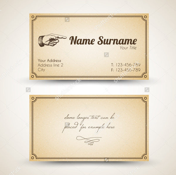 Old Style Retro Business Card