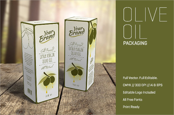 Olive Oil Packaging Label Template