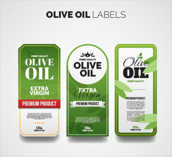 Olive Oil Labels with Different Designs